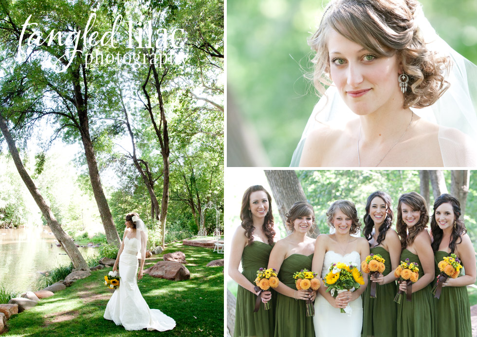 sedona bride, bridesmaids, Los Abrigados, Sedona Wedding Photographer