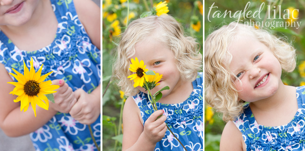 Sunflower Portrait Session