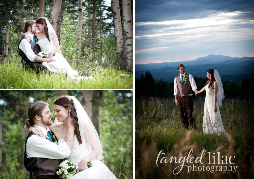 Sunset wedding snowbowl