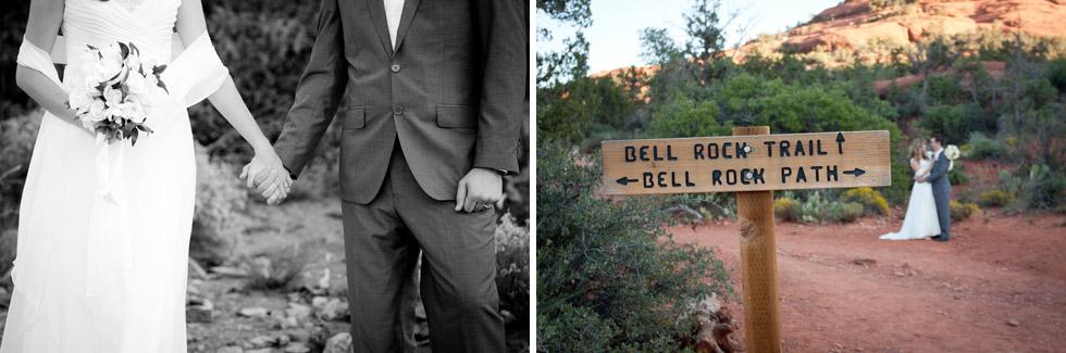 outdoor, red rock, sedona wedding bell rock