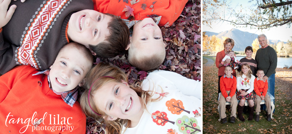 grand children, Flagstaff, Fall,  leaves