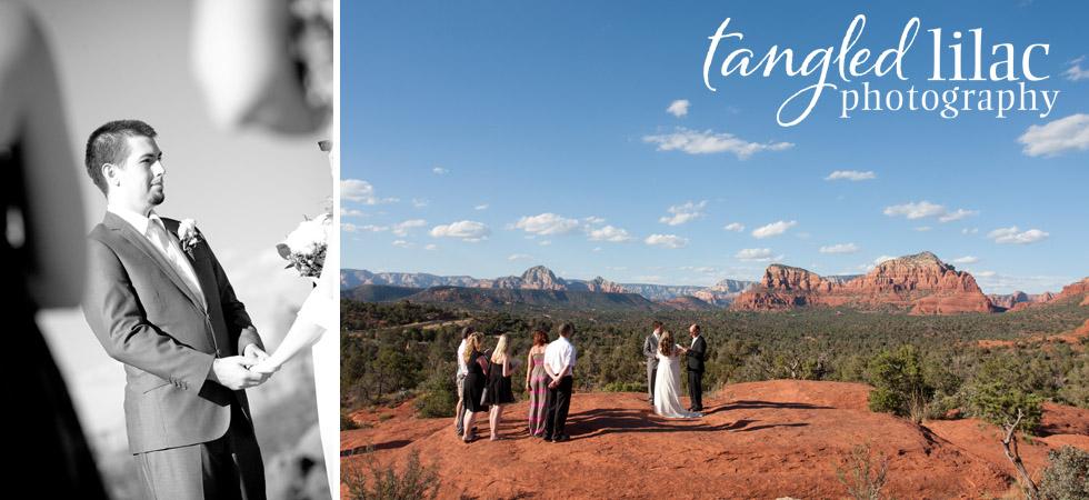 sedona wedding photography, bride and grrom, redo rock view, outdoor