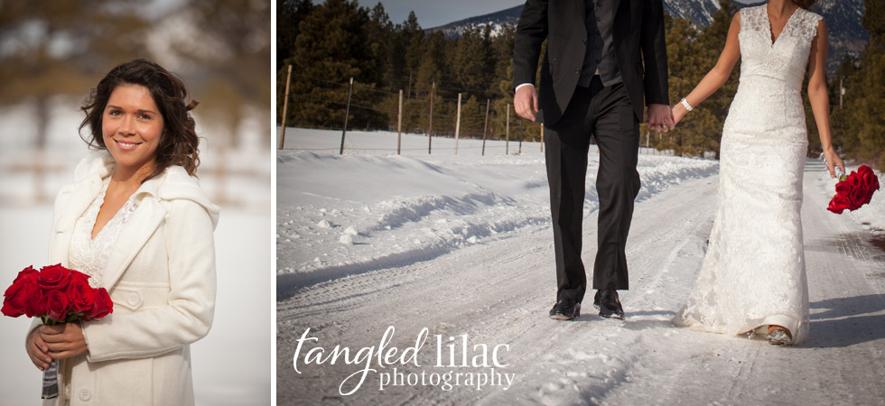 bridal snow portraits, flagstaff wedding photography