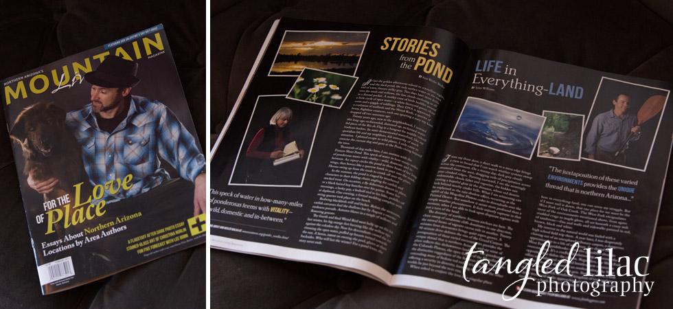 magazine, cover photo, mountain living magazine